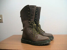 NEW Womens 8 US Dr. Martens Aleina Brown Leather Fold Down Tall Combat Boots