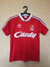RARE LIVERPOOL ENGLAND 1988/1989 CANDY HOME FOOTBALL SHIRT JERSEY MAGLIA ADIDAS