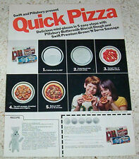 1975 ad page - Pillsbury doughboy Pizza recipe Swift Brown n Serve sausage AD