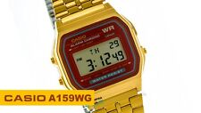 Casio A159WGE Vintage  - Wristwatch Unisex Stainless Steel Band Colour: GOLD
