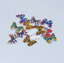 Mix Butterfly Pattern Wooden Buttons Fit Sewing and Scrapbook 28x20.8mm 40PCs I3