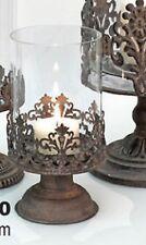 Glas Windlicht 17000 Deko Metall Kerze Teelicht  Tischdeko Antik Shabby Vintage