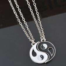 1Set Best Friends Ying Yang Two Bagua Charm Pendant Necklaces Retro Stylish