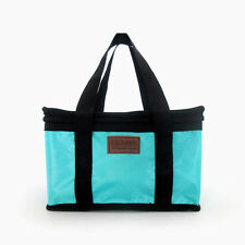 Portable Insulated Thermal Lunch Carry Tote Storage Travel Picnic Bag Blue G