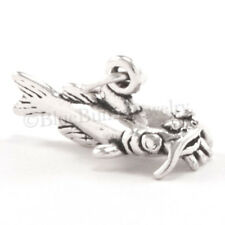 925 3D CATFISH Fish solid .925 fishing food Charm Pendant STERLING SILVER
