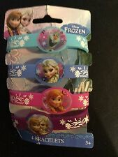 Frozen Disney Elsa Rubber Bracelet Favors (4 Pack) Birthday Party Supplies