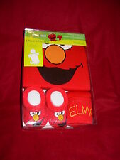 Sesame Street ELMO Baby Gift Set 0-6m Onesis Boots And Hat NWT! FREE SHIPPING!