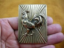 (b-bird-701) Wild game Rooster cock fowl bird pin pendant brooch I love roosters