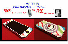 Hello Kitty(FREE CLEAR CASE,Front Protector Screen) & Back For iphone 5 (LV*7)!