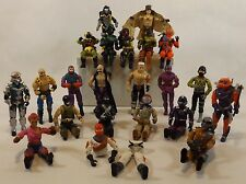Vintage 1980's Loose Lot of 22 Hasbro GI Joe Cobra Action Figures