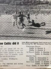 Ephemera 1969 Item Celtic V Inter Milan Allan Gormley Letter
