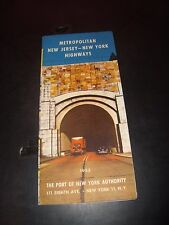 1953 New York / New Jersey Port Authority Highways and Map EX Condition Fold Out