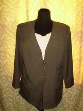 Dress Savvy Womens Plus Size 20W Blazer Sage Pinstripe Dickey