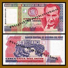 Peru 50000 Intis, 1988 P-142 Unc