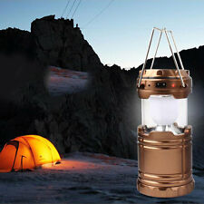 New Portable 6 LED Solar Power Outdoor Hiking Camping Emergency Night Light Lamp