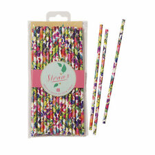TALKING TABLES FLORAL FIESTA PARTY PAPER STRAWS PACK OF 30 CHIC TABLE DECORATION
