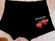 Personalised mens Boxer Shorts VALENTINES DAY 2 HEARTS with Names Gift pres Leg