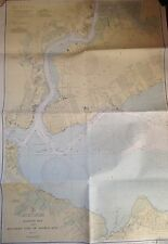 ORIG 1943 RARITAN BAY NEW JERSEY SOUTHERN PART ARTHUR KILL STATEN ISLAND NY MAP