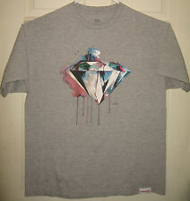 DIAMOND SUPPLY CO Shirt XL Paint Drip Logo Street Wear DSC Shine On OOP HTF RARE