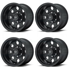 16x10 American Racing AR172 Baja 8x165.1/8x6.5 -25 Satin Black Wheel New set(4)