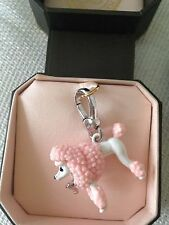 BRAND NEW JUICY COUTURE PINK POODLE PET DOG BRACELET CHARM IN TAGGED BOX