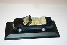 1/43 MERCEDES BENZ 300CE-24 DARK BLUE TAN INTERIOR TOP DOWN MINICHAMPS NO BOX