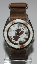 Premium SEIKO 7002-7000 Vintage Diver Watch Camo White/Brown Dial Automatic