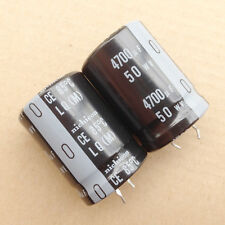 1lot/2PCS Japan Nichicon LQ 50V 4700uF 85c Electrolytic Capacitors Cap