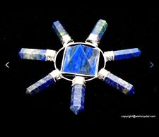 Reiki Energy Charged  Lapis Lazuli 7 Points Pyramid Aura Energy Generator Uk