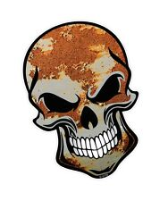 GOTHIC Biker SKULL & Ratlook Rust Rusty Metal Sheet vinyl car bike sticker Decal