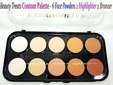Beauty Treats Contour Palette - 6 Face Powders, 2 Highlighter, 2 Bronzers