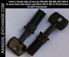 NEW Irritrol / Hardie Rain Dial EXT outdoor keys (Qty 2) RD-600, RD-900, RD-1200