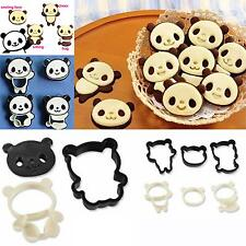 Cute Panda Sandwich Maker Bread Toaste Molds Mould+Cookie Food Cutters Mold Set