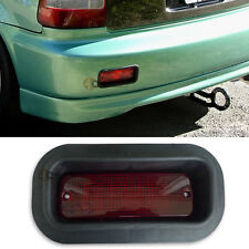 Honda Civic CRX Prelude JDM EDM Rear Bumper Foglight Brake Light Lamp Red Lens