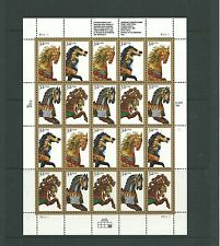 USA 1994 Carusel Horses sheetlet SG3085-8x5 mnh, Cat.£22+