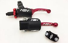 ASV F3 Holiday Pro Pack Red Shorty Adjustable Clutch + Brake Levers CRF 250F