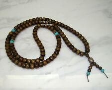 Feng Shui - 8mm Rondelle Sandalwood 108 Mala Rosary for Meditation