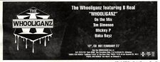 """4/3/95PGN13 ADVERT 4X11"""" THE WHOOLIGANZ FEATURING B REAL : WHOOLIGANZ"""