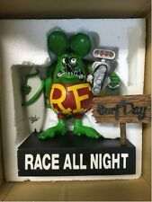 "Used! RAT FINK ""Surf All Day Race All Night"" Color: Green withOuter box"