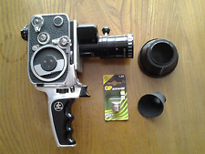 Bolex P2 Zoom Reflex 8mm camera with Som Berthiot Pan-Chinor lens.