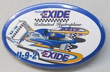 1994 MISS EXIDE U-9-2 oval Unlimited Hydroplane boat racing pinback button