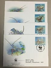KIRIBATI 1998 WWF SET Of 4 FRIST DAY COVERS ( S#12)