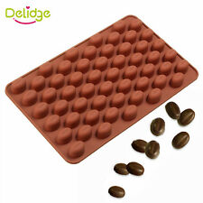 Silicone Coffee Beans Shape Baking Molds Chocolate Soap Cake Decorating