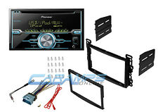 NEW PIONEER AUDIO DOUBLE 2 DIN CAR STEREO RADIO RECEIVER W/ DASH KIT & HARNESS