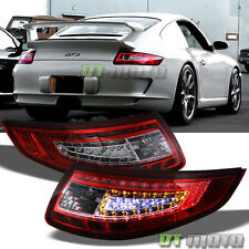 2005-2008 Porsche 997 911 Carrera 4/S/4S GT2 GT3 RS LED Tail Lights Red Clear
