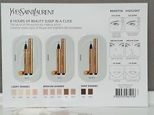 Yves Saint Laurent YSL Touche Eclat Concealer Highlighter sample card