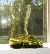 old olive green boot bottle glass quilted sock