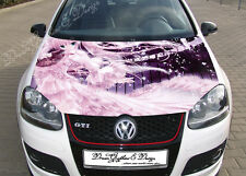 Anime Full Color Graphics Adhesive Vinyl Sticker Fit any Car Hood #062