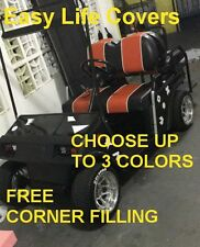 CLUB CAR DS +2000 GOLF CART CUSTOM SEAT COVERS FRONT SEAT STAPLE ON DIY #60 I.W.