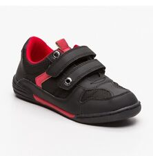 Levi's Kid's Boy's Active black and red Trainers Shoes Junior UK 2  EU 34